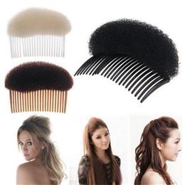 Wholesale Foam Plant - 1PC Trendy Black White Brown Magic Hair Styling Clip Maker Tool Pads Foam Sponge Hairpins Combs Princess Shape Accessories