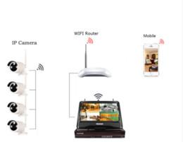 4ch plug and play 10 pouces écran LCD sans fil NVR Kit système de vidéosurveillance HD 960P HD WIFI caméra IP caméra de sécurité IR extérieure ? partir de fabricateur