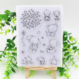 Wholesale Stamps Albums - Wholesale- Cute Animals Transparent Clear Silicone Stamp Seal for DIY scrapbooking photo album Decorative clear stamp sheets