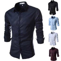 Wholesale Mens Slim Fit Down Coat - Wholesale- 2015 Brand Locomotive Coating Print Fashion Mens Dress Shirts Slim fit Long sleeve Casual Social Camisa Masculina for Man XXL
