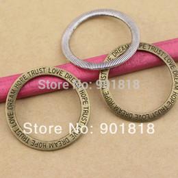 Wholesale Hope Bracelet Connectors - Wholesale- 10pcs bag connector love hope trust dream charms for DIY bracelets 35mm F663