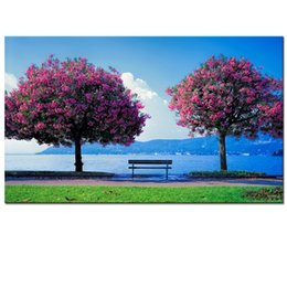Wholesale Tree Pictures Decorative - Nature Scenery Picture Canvas Printing Two Tree Photo Canvas Prints Decorative Digital Art Print for Home Decor