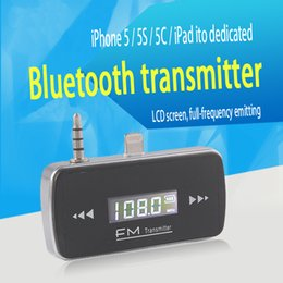 Wholesale Mini I5 - Wholesale-I5 New Handsfree Mini Wireless Bluetooth Car Kit FM Transmitter Radio Adapter With LCD Display For iPhone