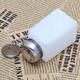 Wholesale Nail Polish Pump Bottle - Wholesale- 200ML Empty Pump Dispenser Nail Polish Liquid Alcohol Remover Cleaner Bottle