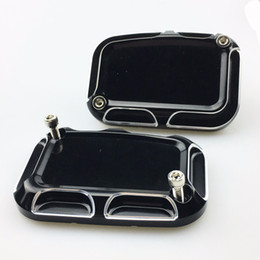 Wholesale Front Brake Reservoir - Motorcycle accessories Aluminium CNC Left right Front Brake Reservoir Cylinder Cover Fit Harley