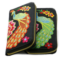 Wholesale Mess Coin - Ethnic Embroidery Cloth Moible Bag Cell Phone Pocket Money Dibs Change Wallet Women Lady New Designer Sundries Mess Kits Coin Purses