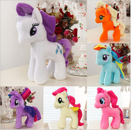 Wholesale Little Gifts - TUMI 6pcs Lot 25cm Plush Unicorn doll toys for Children my cute lovely little horse toy Plush toys Stuffed unicorn gifts
