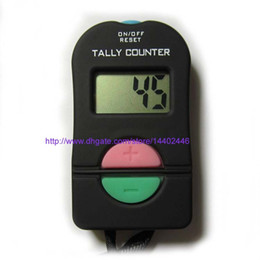 Wholesale Hand Tally Manual Counters - 120pcs Iable Electronic Digital Hand Tally Counter Manual Clicker ADD SUBTRACT Muslim Sports Gym Golf Security