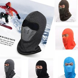 Wholesale Masks Tactic - Winter masks Warm Thicker Barakra Hat Cycling Caps CS mask tactics section head sets Tactical motorcycle windproof Mask Cap 7 color KKA2200
