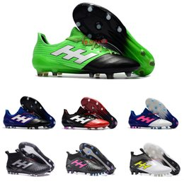 Wholesale Cheap Soft Ground Soccer Cleats - 2017 New Arrival Mens ACE 17.1 Leather FG Soccer Shoes ACE 17 Purecontrol Soccer Cleats Original Soft Ground Football Boots Cheap Hot Sale