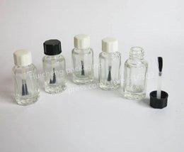 Wholesale Empty Nail Polish Enamel Bottle - 200 sets  lot Small Empty Nail Polish   Enamel Glass Bottle, Mini Clear Nail Polish Bottle,Cosmetic Container