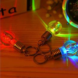Wholesale Led Color Change Mini Ball - Hot Led Light Mini Bulbs Torch Keyring Keychain rgb mini led flashlight color changing KEY RING BULBs