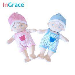 Wholesale Boys Baby Doll Clothing - InGrace hot sale fashion handmade baby doll with cartoon clothes soft sleep calm baby doll high quality stuffed interactive doll