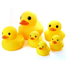 Wholesale Finish Bath - Puzzle toys wholesale small yellow duck baby pinch called play water toys bath big ducks sound toys