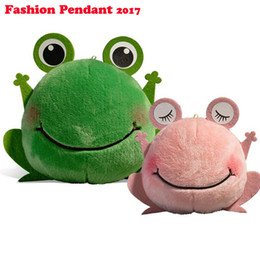 Wholesale Doll Phone Accessories - 2017 New arrival plush frog doll mobile phone Automobile keychain pendant Accessories stuffed toys For handbag Bag Purse gift