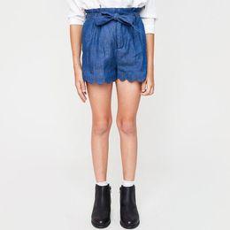 Wholesale Girls Denim Short Bow - Autumn 2017 Teenager Denim Pants Junior Fashion Bow Shorts Big Kids Girls Casual Loose Trouser Baby clothing
