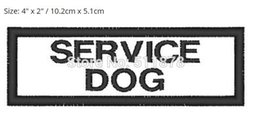 "Wholesale Wholesale Tv Services - 4"" Service Dog Vest LOGO Uniform Movie TV Series Costume Cosplay Embroidered Emblem DIY applique sew on iron on patch"