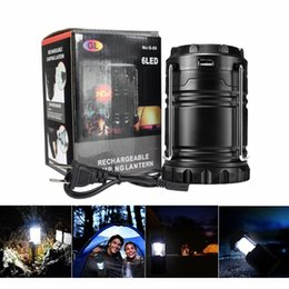 Wholesale free solar - Great Outdoor Lantern Camping Portable Solar Lamp tent light Rechargeable Emergency use with USB port for android phones DHL free Shipping