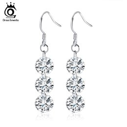 Wholesale Crystal For Chandelier Wholesale - Orsa Jewelry Luxury Series Naked Austrian Crystal,SWA Elements,Earrings for Women Female Fashion Jewelry OE10