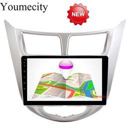 Wholesale Hyundai Android Head Unit - NEW!!!2G RAM Android 6.0 2 DIN Car DVD GPS for Hyundai Solaris 2011 2012 2014 2015 2016 Verna head unit radio video player wifi