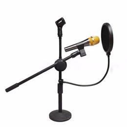 Wholesale Wholesale Mic Pop Filters - Pop shield supplies Mic Pop Screen Studio Wind Windscreen Filter Mask For Broadcasting Singing Recording