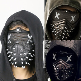 Wholesale Tangerine Costume - Game Cosplay Watch Dogs 2 Mask Marcus Holloway Mask Casual Tangerine Mask Halloween Party Prop