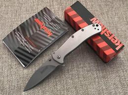 Clip de couteaux de poche en Ligne-Hot Kershaw 1730SS 8C17Mov 59 HRC Zing Survie Tactique Flipper Couteau Pliant Chasse Outils Survie Poche Couteau Clip Utilitaire EDC