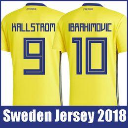 febc20aff Top thailand quality National Sweden soccer jerseys 2018 world cup  IBRAHIMOVIC KALLSTROM FORSBERG jersey football soccer shirt camisetas