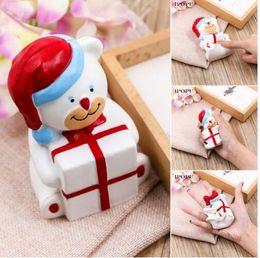Wholesale Fun Stuff - kawaii squishy JUMBO christmas bear soft slow rising toys rare squishy Kids Fun toy PU Squeeze Cute Soft Gift Stuffed Toy KKA3009