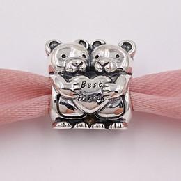 amico d'argento Sconti Autentici 925 Sterling Silver Beads Best Buddies Charm Charms Adatto europeo Pandora gioielli stile collana bracciali 792151