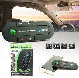Wholesale Iphone Sun Charger - Sun Visor Bluetooth Speakerphone Bluetooth Receiver Speaker Car Charger MP3 Music Player Wireless Bluetooth Transmitter Handsfree Car Kit