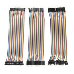 Wholesale Dupont Cable For Arduino - Wholesale-120pcs 20cm Dupont Line male to male + male to female and female to female Jumper Wire Dupont Cables for arduino