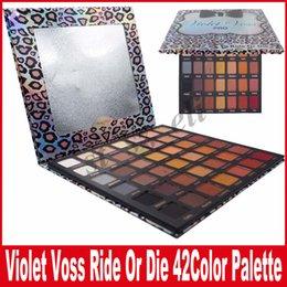 Trucco di marca viola online-Makeup Violet Voss Ride or Die Eyeshadow Palette Brands Eye Shadow 42 Colors Eyeshadow Palettes Sets Eyes Cosmetics Kits