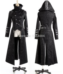 Wholesale Visual Kei - Wholesale- Punk Rave Fashion Mens Punk Streampunk Visual Kei Gothic Long&short Jacket Coat Hoodie Y364