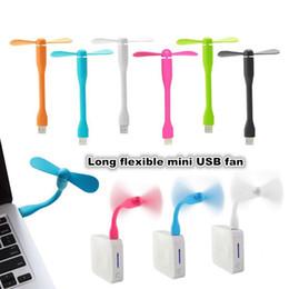 Wholesale Mini Pc Fans - Portable Flexible Mini USB Fan Bendable removable USB Gadgets Low power for Powerbank PC Laptop Notebook