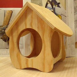 Wholesale Wood birds nest box cockatiels swallows nest outdoors roof wooden bird house paper gift box fashion Crafts