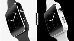 Wholesale Curve Mobile - Curved Screen X6 Smartwatch Smart Watch Bracelet Phone With SIM TF Card Slot With Camera For Samsung LG Sony All Android Mobile Phone DHL