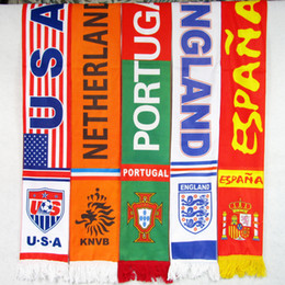 Wholesale England Souvenir - Argentina Germany england france Italy portugal holland Sport Soccer Scarf 17*150cm Football Printed Scarves Football Fans Scarf Souvenirs
