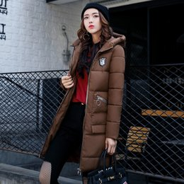Wholesale Waffle Cotton Hat - The New Women's Coat In Winter Long Down Cotton Large Size Women Winter Cotton Padded Jacket