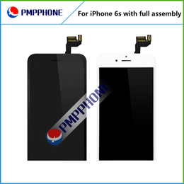 Wholesale camera replacement - LCD Display with Frame + Front Camera + Home Button Full Assembly Touch Screen Digitizer Replacement for iPhone 6s Free shipping AAA quality