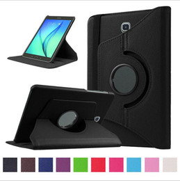 Wholesale Magnetic Ipad3 Case - 360 Rotating PU Leather Case Magnetic Cover for Samsung Galaxy Tab 3 4 S A T310 10.1 T580 8.4 T330 T530