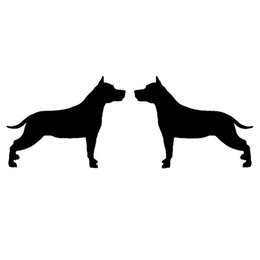 Wholesale Tail Guard - Wholesale 10pcs lot 2X Loyalty Guards American Staffordshire Terrier Car Sticker for Truck Minicab Bumper Motorcycle Reflective Vinyl Decal