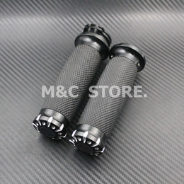 "Wholesale Motorcycle Customs - Motorcycle Grips 1""25mm For Harley Softail Sportster Touring Dyna Custom CNC Aluminum&None-Slip Gel Rubber"