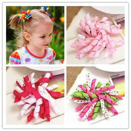 Wholesale Korker Hair Accessories - Wholesale- diy flower korker hair ribbon bow baby girls hair clips for girls women of grosgrain bows for hair children hairpins accessories