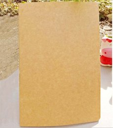 Wholesale Kraft Paper Notebooks Notepads - DHL Shipping Vintage A5 Kraft notebook 21*14cm With Lined Grid  Blank pages for choose diary jounal With 60sheet