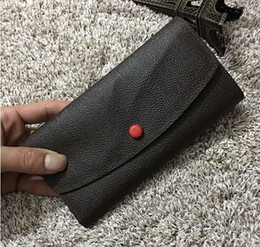 Wholesale Red Box Clutch - Free Shipping! Fashion designer clutch famous brand clutch Genuine leather wallet with box dust bag 60136