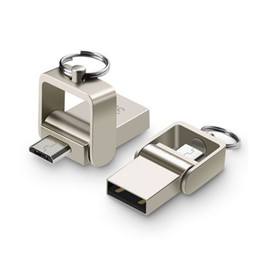 Wholesale Disk Flash Drive Usb Metal - 3 in 1 USB 3.0 Flash Drive 64GB Metal OTG Pendrive High Speed USB Memory Stick 32GB pen Drive Real Capacity 16GB USB Flash Android U disk