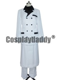 Wholesale Male Fantasies - Final Fantasy Rufus Shinra White Halloween Set Cosplay Costume