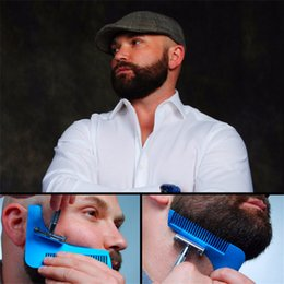 Wholesale Plastic Packaging For Hair - Bro-beard The Beard Bro Beard Shaping Tool for Men Gentleman Trim Template Hair Cutter Molding With OPP bag packaging free shipping