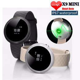 Wholesale Message For Bracelets Men - woman men sport X9 Mini Bluetooth Smart Band Health Wrist Bracelet Watch Heart Rate Monitor Swimming IP67 Waterproof for IOS Android